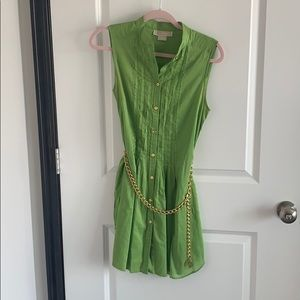 Worn once, MK tunic shirt with chain belt